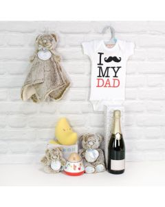 Light of Dad's Life Gift Basket with Champagne