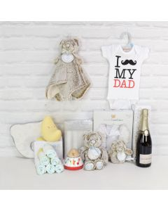 Deluxe Father's Love Gift Basket with Champagne