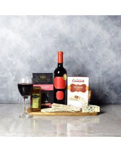 Fruits of Autumn Cheese & Wine Basket
