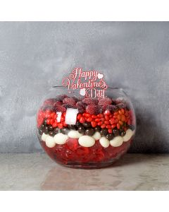 Rouge Hill Candy Bowl Gift Basket, gourmet gift baskets, gift baskets, Valentine's Day gift baskets