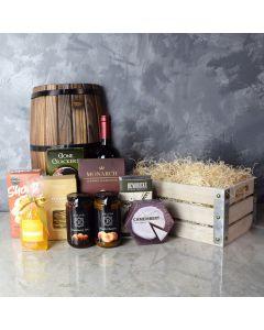 Oakridge Wine & Snack Gift Crate, gift baskets, wine gift baskets, gourmet gift baskets, wine & cheese gift baskets