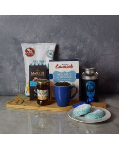 Hanukkah Coffee & Snacks Gift Basket