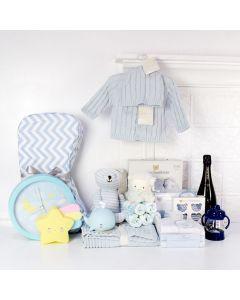 DELUXE ELEGANT BABY BOY GIFT BASKET, baby boy gift hamper, newborns, new parents