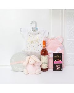 Mommy & Daughter Gift Set, baby gift baskets, baby boy, baby gift, new parent, baby, champagne