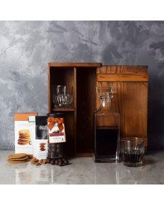 Rustic Decanter & Snacks Gift Set