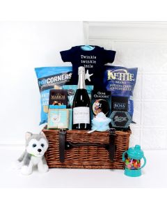 SPECIAL DELIVERY FOR THE BABY GIFT BASKET, baby boy gift basket, welcome home baby gifts, new parent gifts