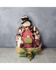 Christmas Decadence Wine Basket, wine gift baskets, Christmas gift baskets, gourmet gift baskets