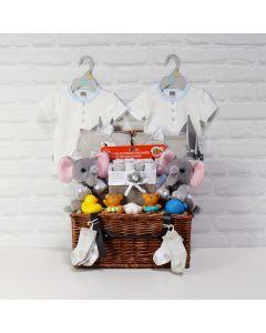 TWINS BATH TIME PLAYSET, baby boy gift hamper, newborns, new parents