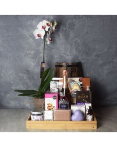 Bubbles & Bites Celebratory Spa Gift Basket