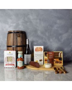 Meat, Cheese & Crackers Wine Gift Basket, wine gift baskets, gourmet gift baskets, gift baskets