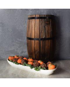 Chocolate Dipped Strawberries Halloween Basket