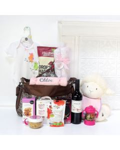 BABY PRINCESS GIFT BASKET, baby girl gift basket, welcome home baby gifts, new parent gifts
