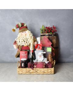 Santa's Bounty with Champagne, champagne gift baskets, gourmet gifts, gifts