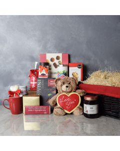 Maryvale Romantic Gift Basket, gourmet gift baskets, gift baskets, Valentine's Day gift baskets, romantic gift baskets