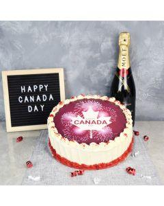 Summerhill Canada Day Cake, gourmet gift baskets, cake gift baskets