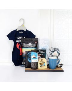 SOFT & SNUGGLY BABY BOY GIFT BASKET, baby gift basket,, welcome home baby gifts, new parent gifts