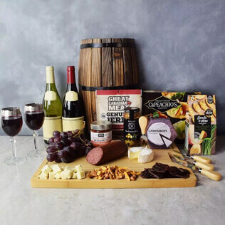 Grand Cheese& wine Gift Basket Rhode Island