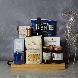 Hanukkah Kosher Wine & Pasta Basket Rhode Island