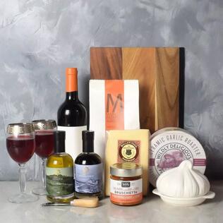 Pasta Lovers Wine Gift Basket Rhode Island