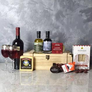 Deluxe Wine & Cheese Snack Crate Rhode Island