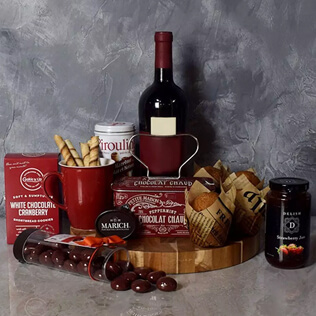 Muffin,Chocolate & Wine Delight Gift Set Rhode Island