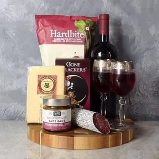 Savoury Treats Wine Basket Rhode Island