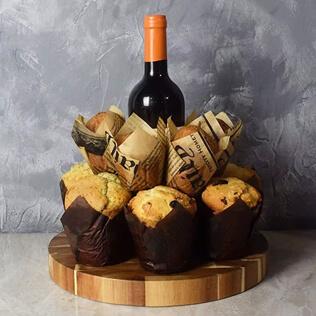 Wine & Muffins Gift Set Rhode Island
