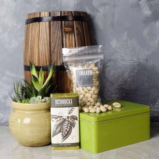 Snacks & Succulent Gift Set Rhode Island