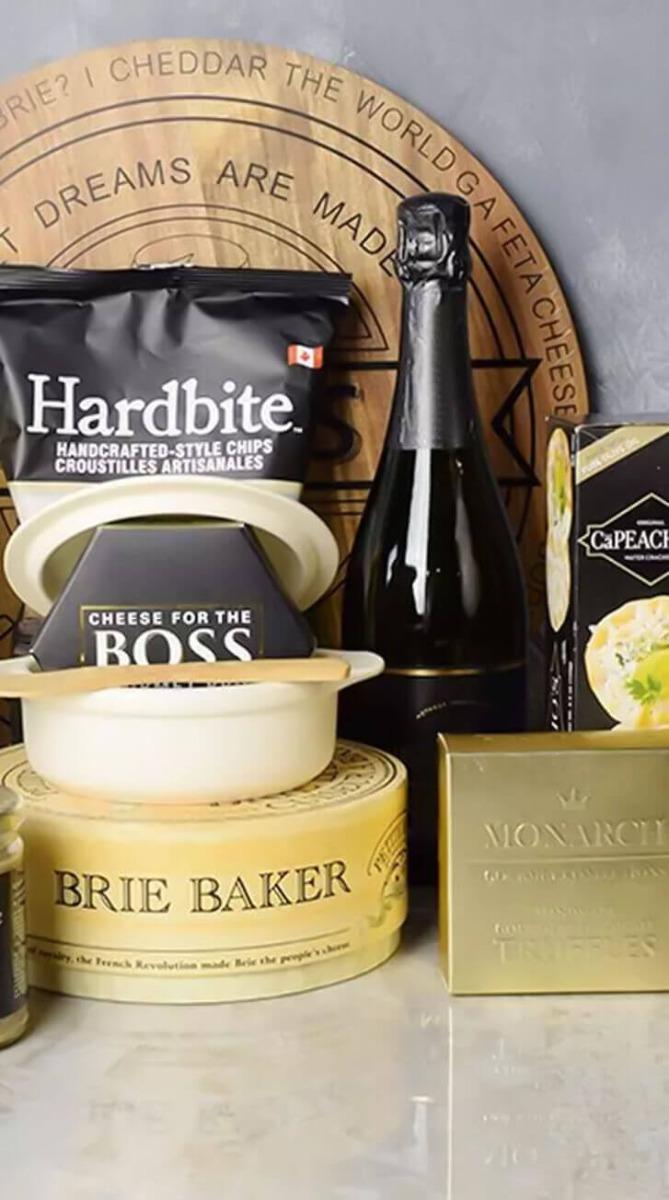 Brie Baker & Champagne Set