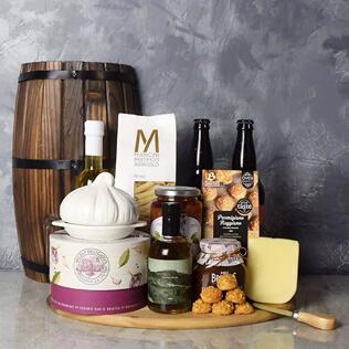 Little Italy Deluxe Craft Beer Basket Rhode Island